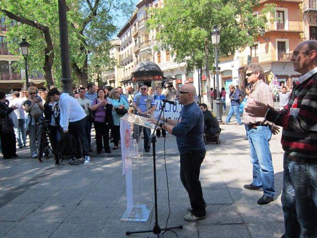 Manifestación CCOO Y UGT