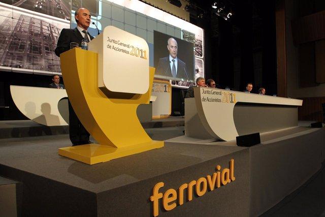 Rafael del Pino, presidente de Ferrovial, ante la junta de accionistas
