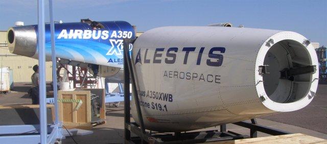Alestis entrega a Airbus los primeros prototipos del cono de  cola del A350 XWB.