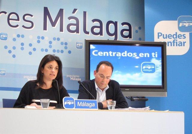 Margarita Del Cid Y El Candidato Del PP En Manilva, Francisco Miguel Álvarez