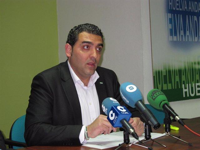 El candidato del PA a la Alcaldía de Huelva, Damián Rodríguez