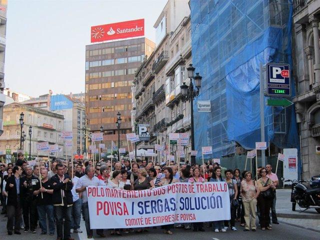 Foto Manifestación Povisa en Vigo