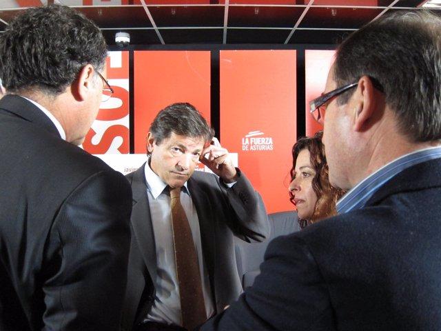 Javier Fernández, Junto A Ramón Quirós, José Ramón Riera Y Clara Costales