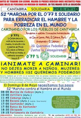 Cartel de la Marcha por el 0,77% Solidario