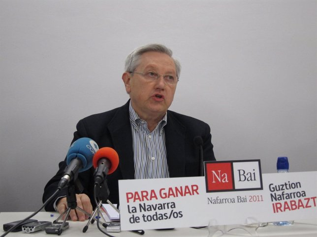 El Candidato De Nafarroa Bai 2011 Al Parlamento De Navarra, Patxi Zabaleta.