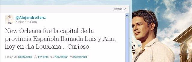 Comentario Alejandro Sanz En Su Twitter