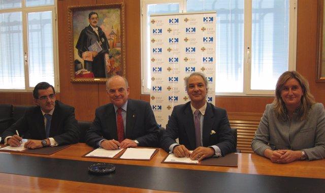 Firma Entre CEU, Fundación Hospital Madrid E Instituto Europeo De Salud