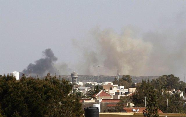 Bombardeo Sobre Libia