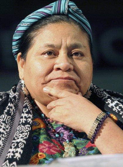 Rigoberta Menchú presenta su candidatura a las elecciones de Guatemala