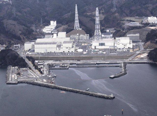 Vista áerea de la central nuclear de Onagawa