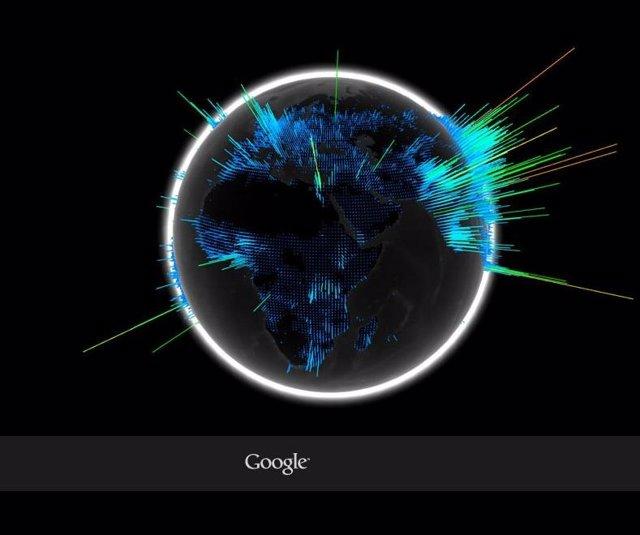 Google Representa Las Búsquedas En Un Globo Terráqueo 3d
