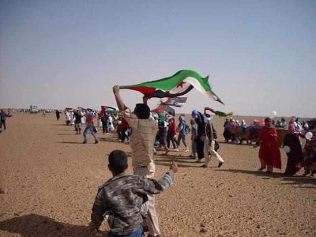 Manifestación saharaui