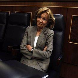 La Ministra Salgado En Su Escaño En El Congreso