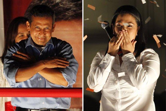 Candidatos Presidenciales De Perú, Ollanta Humala Y Keiko Fujimori