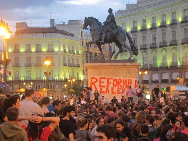 Manifestación 15M Sol