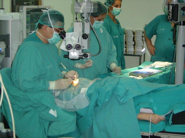 Pperación de oftalmología