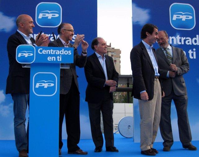 El Expresidente Del Gobierno, José María Aznar, En Un Mitin En Valladolid