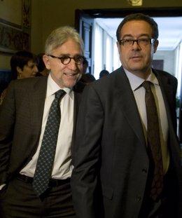 Josep Sánchez Llibre y Pere Macias, portavoces adjuntos de CiU en el Congreso