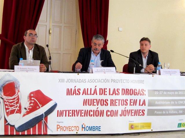 Roberto Perdomo (I), Luis Manuel Flórez (C) Y Nicolás Condés (D)