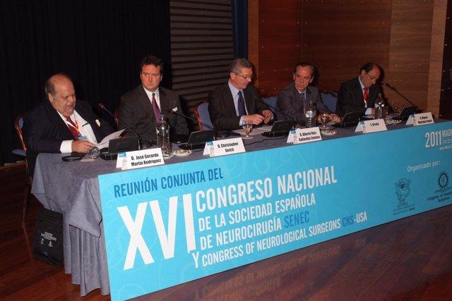 Algunos De Los Ponentes Durante La Sesión Inaugural Del Congreso