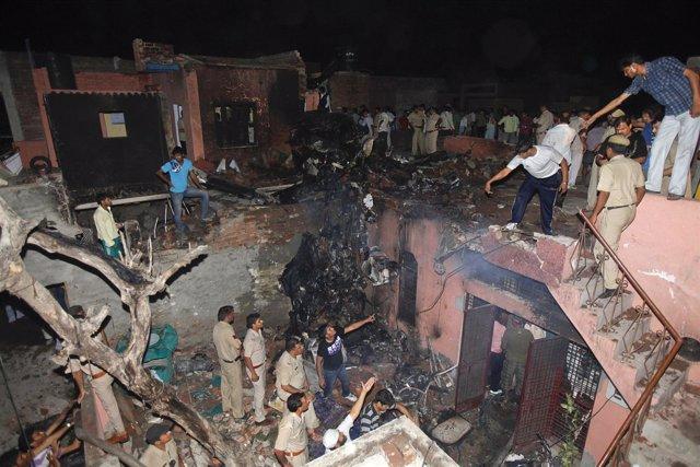 Accidente De Avión Ambulancia En Nueva Delhi