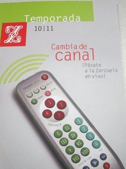 Cartel De La Temporada Del Teatro De La Zarzuela
