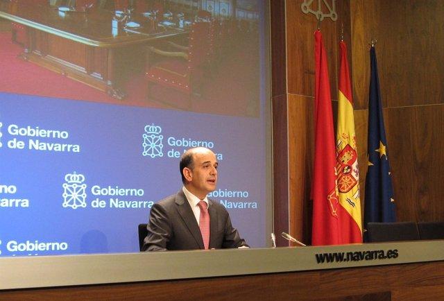 El Portavoz Del Gobierno De Navarra, Alberto Catalán.
