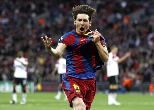 Leo Messi Tras Su Gol En Wembley