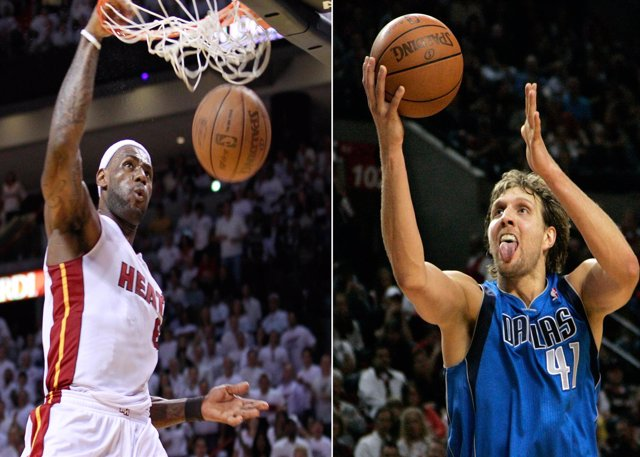 Montaje Lebron James Dirk Nowitzki Final NBA