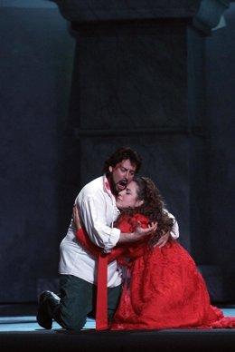 Representación De Tosca En El Palau De Les Arts