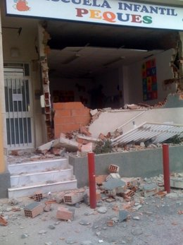 Imagen De Una Guardería Derrumbada Tras El Terremoto