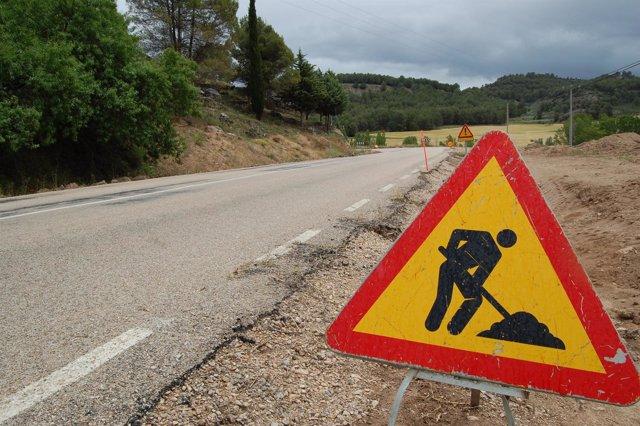 Imagen De Obras En Una Carretera