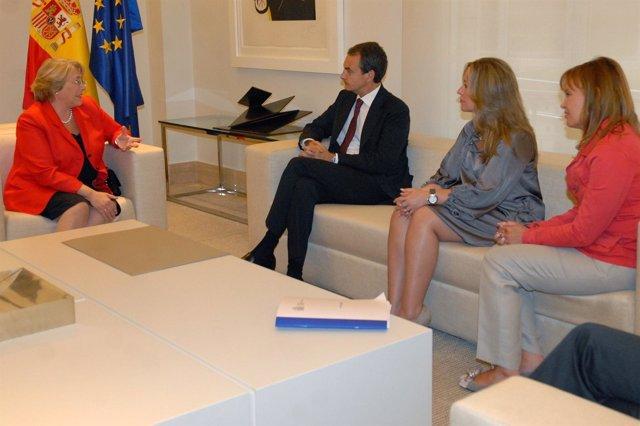 Michelle Bachelet De Visita En Moncloa
