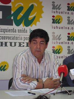El Coordinador General De IULV-CA, Diego Valderas, En Una Rueda De Prensa.