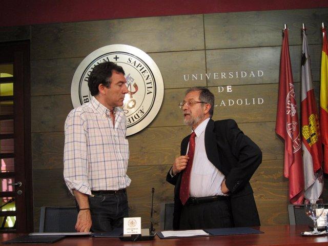 El Secretario Regional De CC.OO, Ángel Hernández, Y El Rector De La UVA