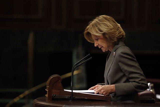 Elena Salgado, Desde La Tribuna Del Congreso