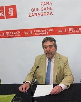 El Candidato Del PSOE A La Alcaldía De Zaragoza, Juan Alberto Belloch
