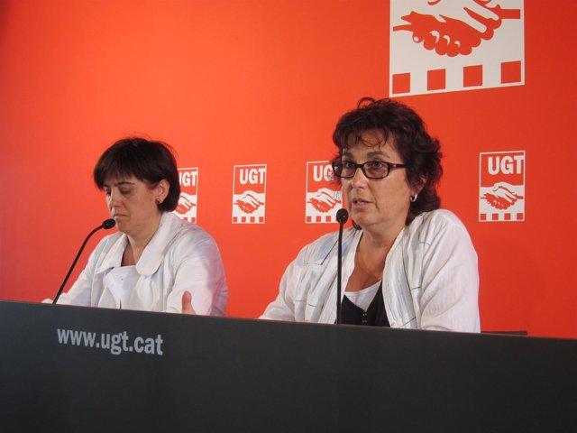 Las Responsables De FETE-UGT, Ana Montero Y Roser Font
