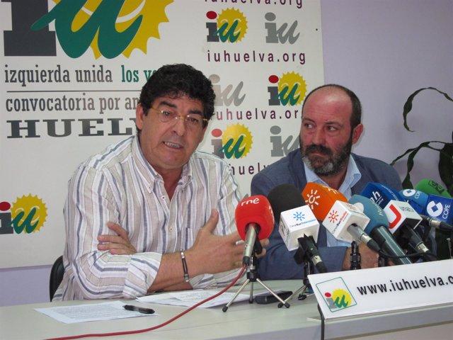 El Coordinador General De IULV-CA, Diego Valderas, Junto A Pedro Jiménez.