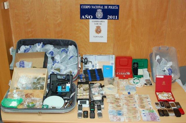 Material Incautado En La Operación En Tortosa