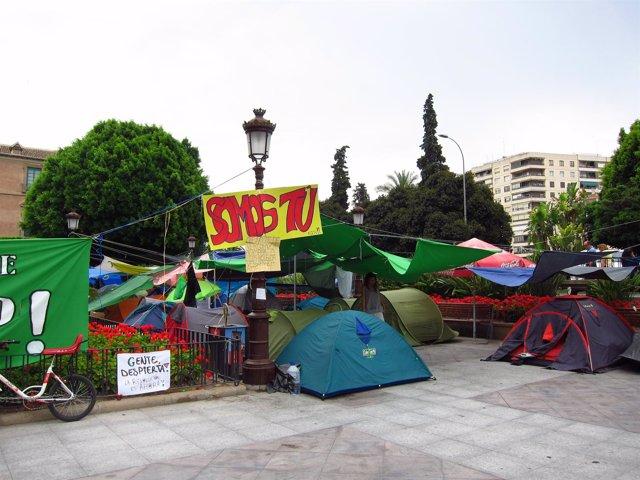 Acampada 15M En La Glorieta De Murcia