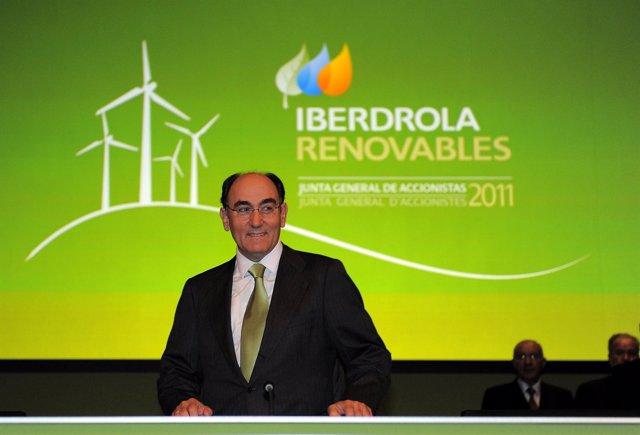 El Presidente De Iberdrola Renovables, Ignacio Sánchez Galán.