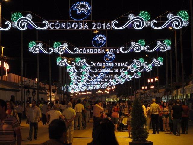Imagen Nocturna De La Feria De Córdoba