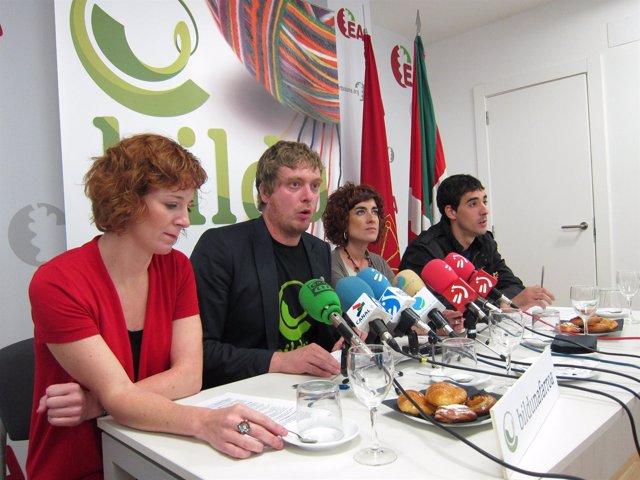 Rueda De Prensa De Bildu.