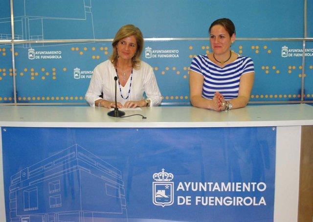 La Alcaldesa De Fuengirola, Esperanza Oña, Y La Edil De Playas.