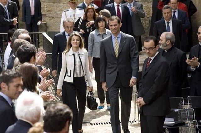 Los Príncipes De Asturias En Una Visita A Navarra.