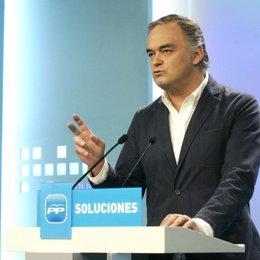 Esteban González Pons en rueda de prensa del PP