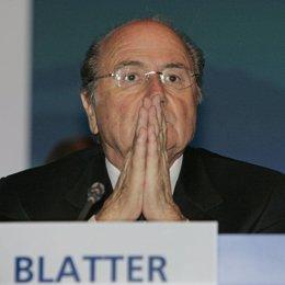 el presidente de la FIFA Joseph Blatter durante un congreso