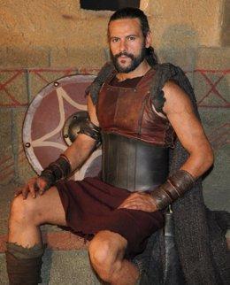 El Actor Roberto Enríquez, De La Serie 'Hispania', Caracterizado Como Viriato