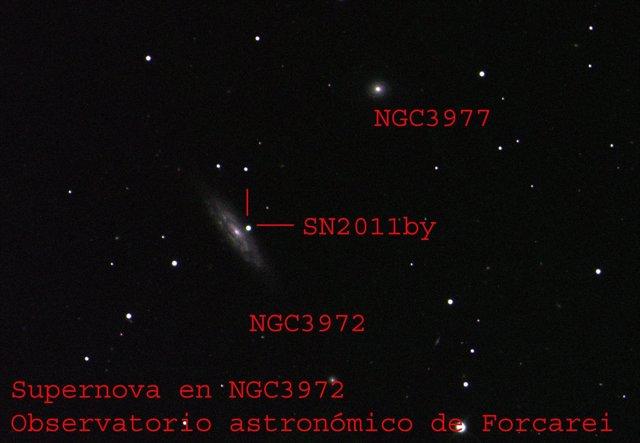 Imagen De La Supernova Fotografía Por El Observatorio De Forecarei (Pontevedra).
